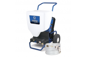 Plaster sprayers with a peristaltic pump
